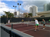 Four Women Playing Pickleball