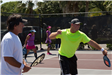 Two Players on the Pickleball Court