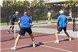 Game of Pickleball with Men