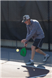 Man Getting Ready to Hit the Pickleball
